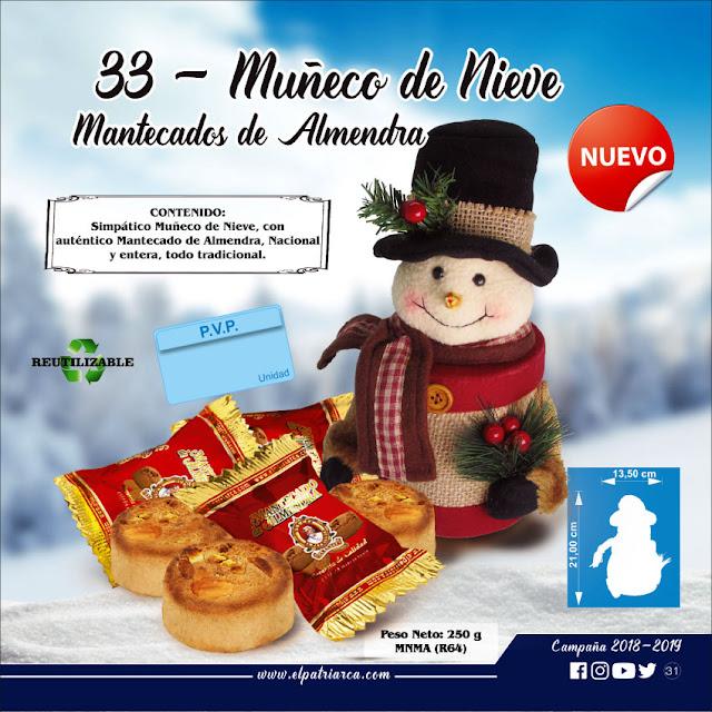 Muñeco de Nieve con Mantecados de Almendra 250 g - Comercial H Martin sa