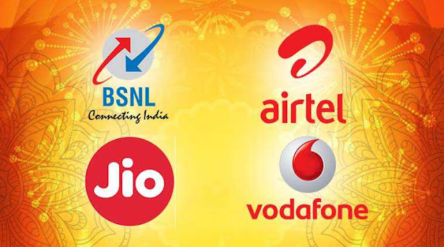 Diwali Recharge Offers On Jio, BSNL, Airtel, Vodafone