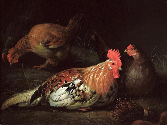 Альберт Кёйп - Петух и курицы