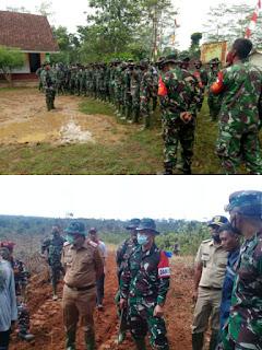 Terjunkan Ratusan Prajurit, Kodim 0621/Kab Bogor Melaksanakan TMMD ke-109, Kampung Cinyurup Tenjo Bogor