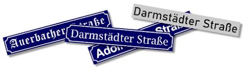 Bensheimer Häuser - damals und heute - Wie die Darmstädter Straße früher hieß... Von der Auerbacher Straße über die Adolf-Hitler-Straße und wieder zur Darmstädter Straße... dann noch eine neue Nummerierung der Häuser.