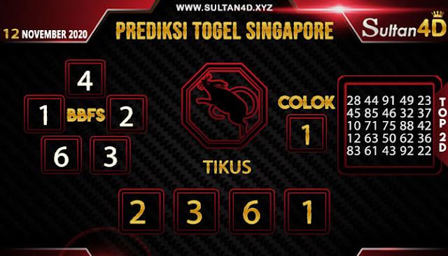 PREDIKSI TOGEL SINGAPORE SULTAN4D 12 NOVEMBER 2020