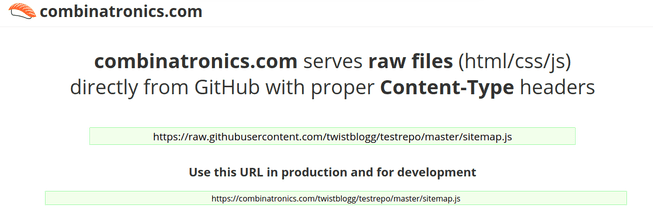 hosting github files using combinatronics