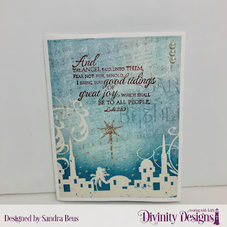 Stamp Set: Good Tidings, Custom Dies: Book Fold Card with Layers, Angel, Paper Collection: Christmas 2014