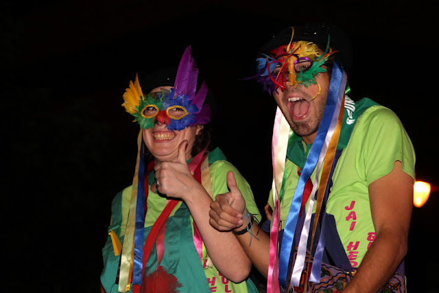 Peruzikin y Marizikin en las fiestas de Beurko-Bagatza