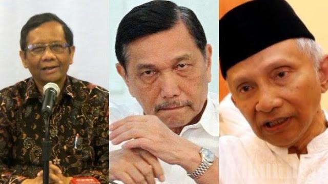Mahfud MD Akhirnya Tanggapi 'Perang' Amien Rais dan Luhut, tapi Netizen Tanya Hal Menohok Ini