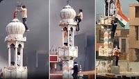 Bendera Hanoman Dikibarkan di Menara Masjid, Shame on You India!