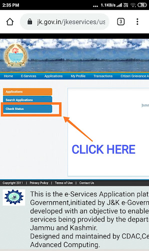 How to download the Domicile Certificate after application
