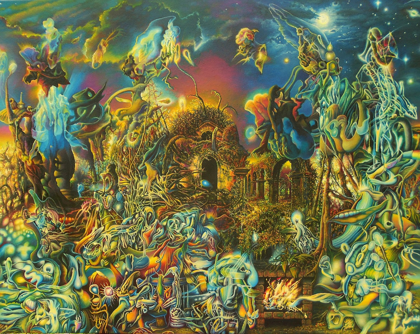 Surreal artwork by james mccarthy sam woolfe for Art and craft drawing and painting