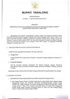 Pengadaan Pegawai Pemerintah dengan Perjanjian Kerja (P3K) Tabalong