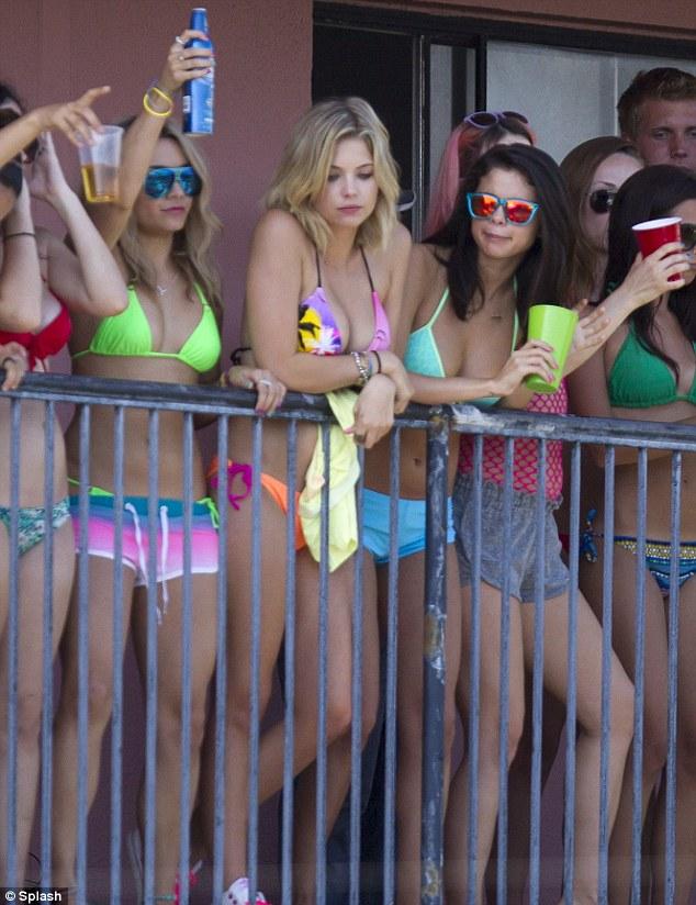 Girl bikini break spring