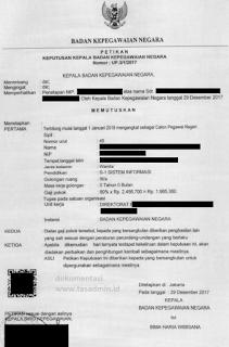 Dokumen SK CPNS