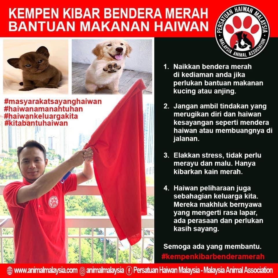 Kibar Bendera Merah Untuk Bantu Haiwan Peliharaan