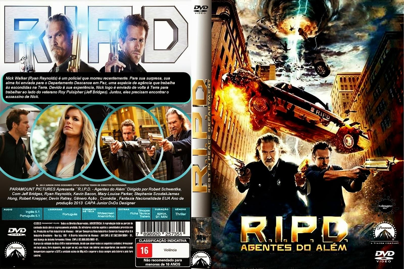 CAPAS DVD VIDEO JP: R.I.P.D. AGENTES DO ALÉM