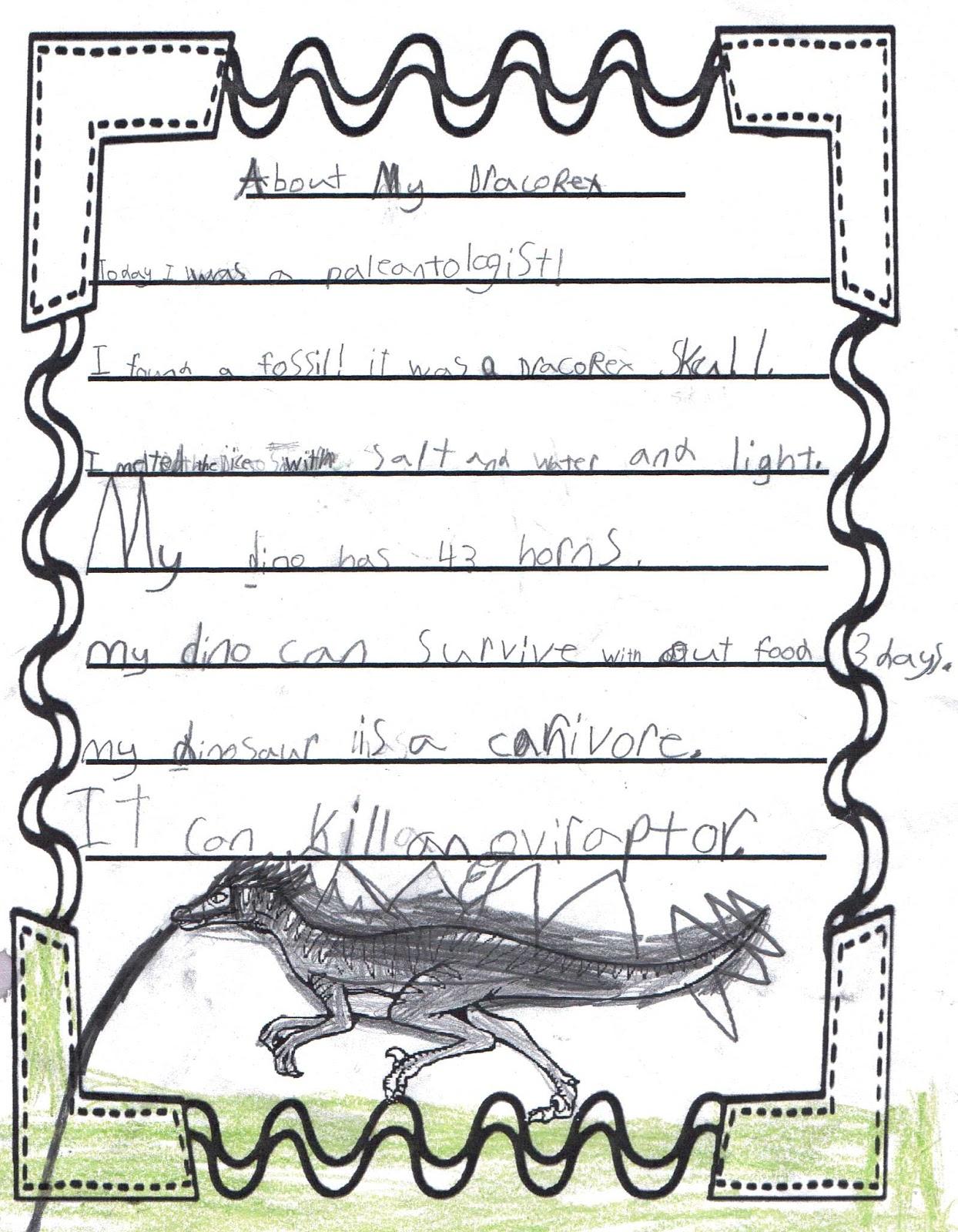 Herding Kats In Kindergarten Dinosaur Writiing Freebie