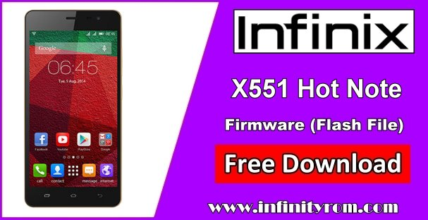 Infinix X551 Flash File
