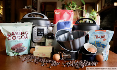 photo of Instant Pots and dessert ingredients on table