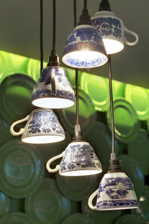 lampki z filizanek