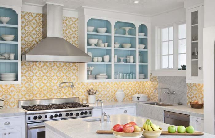 Farklı Tarzlarda Mutfak Duvar Kağıdı Modelleri