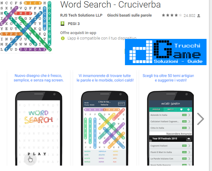 Trucchi Word Search Mod Apk Android
