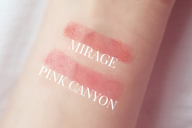 100 pure mirage pink canyon stain swatches