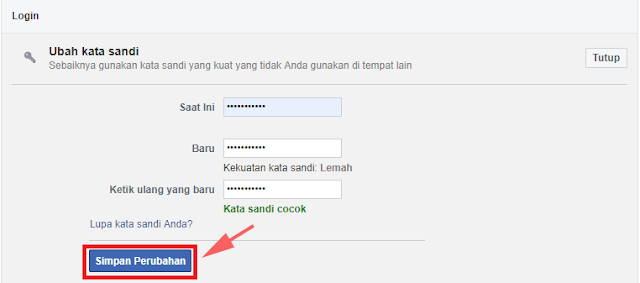 Cara Ganti Password Facebook di Komputer