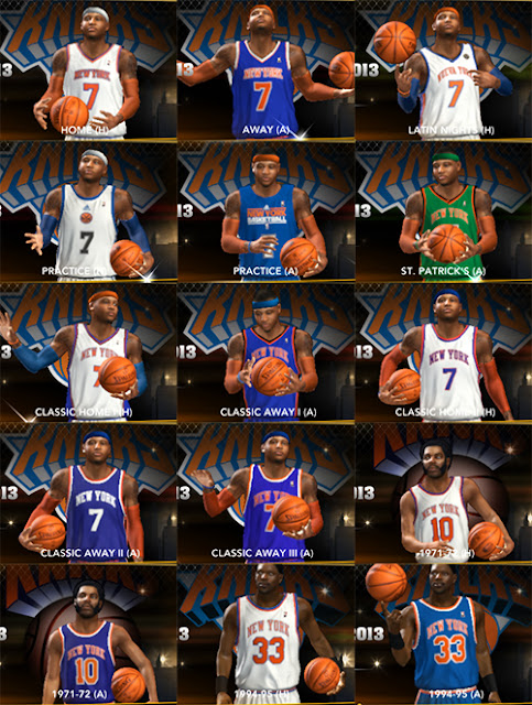 NBA 2K13 Knicks All Jerseys Mod Patch