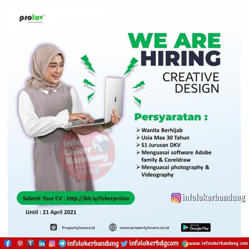 Lowongan Kerja Creative Design Prolov ( Property Lovers ) Bandung April 2021