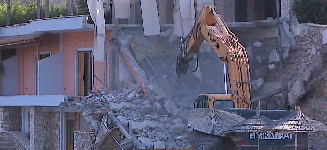 The Restaurant of Mihal Kokëdhima demolished after the incident with Eugenio Galdón