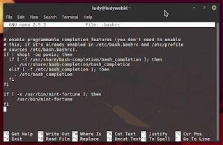 Belajar GNU/Linux Untuk Pemula - Cara Mengaktifkan Autocomple Di Terminal