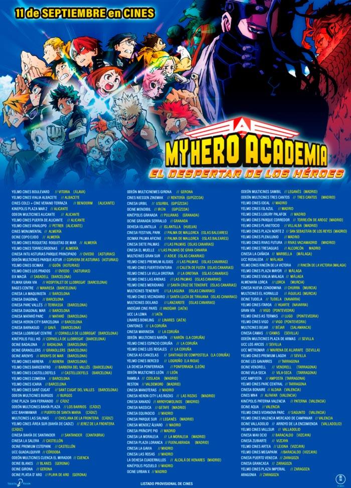 My Hero Academia: El despertar de los héroes - Selecta Visión - anime film - cines