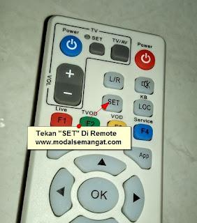 "tombol ""SET"" Di remote useeTV/indihome"