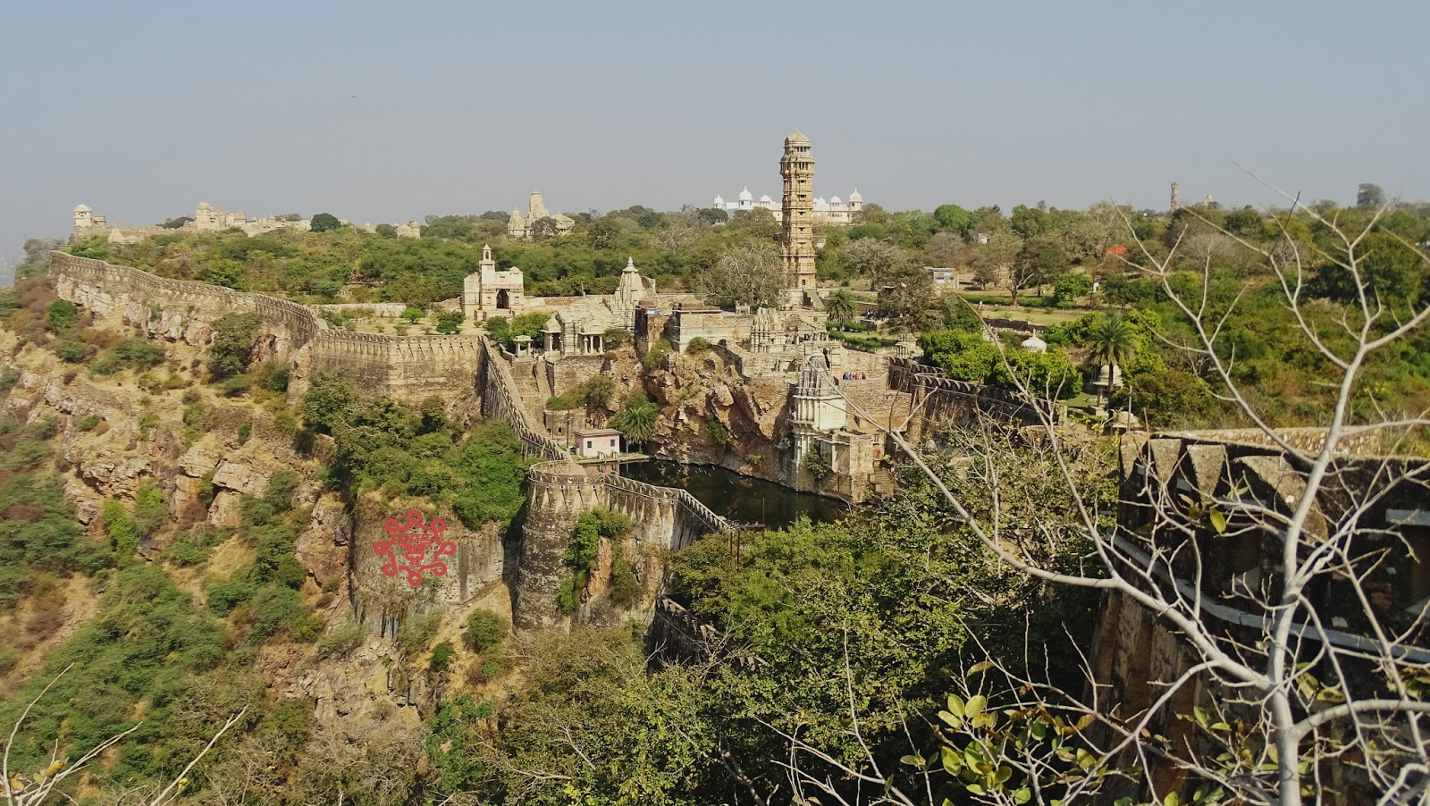 Wide Angle View Of Chittorgarh Fort