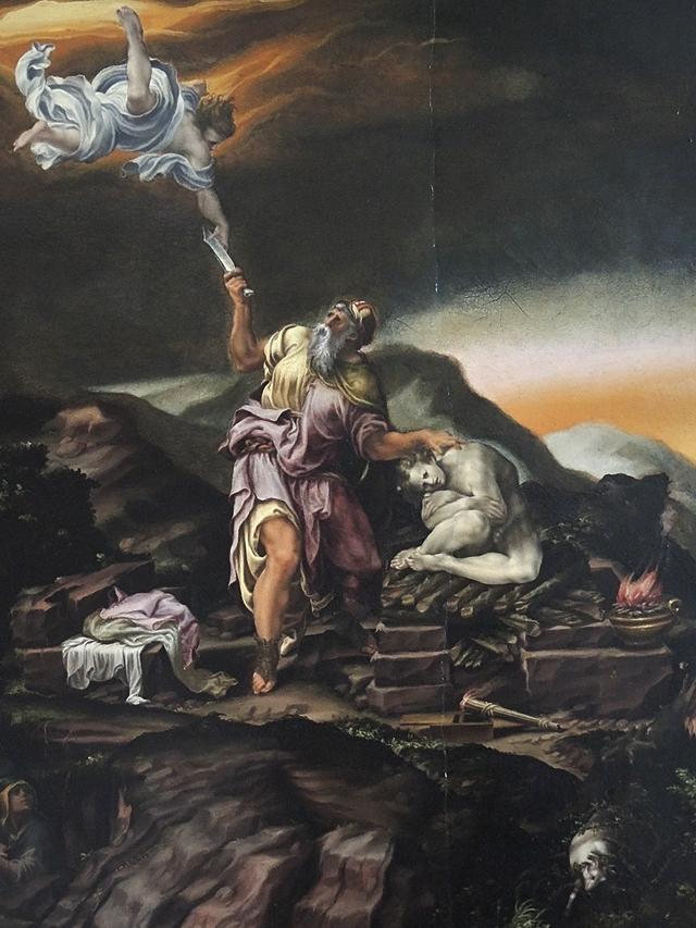 detail uit het offer van Abraham van Lelio Orsi