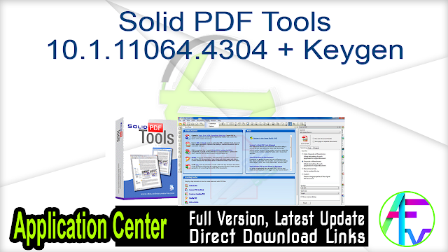 Solid PDF Tools 10.1.11064.4304 + Keygen