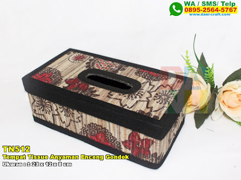 Tempat Tissue Anyaman Enceng Gondok