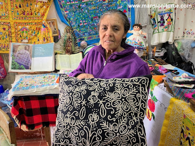 Hand Crafterd Embroiders made by Bertha Servin and the women of Cooperativa Tata Vasco