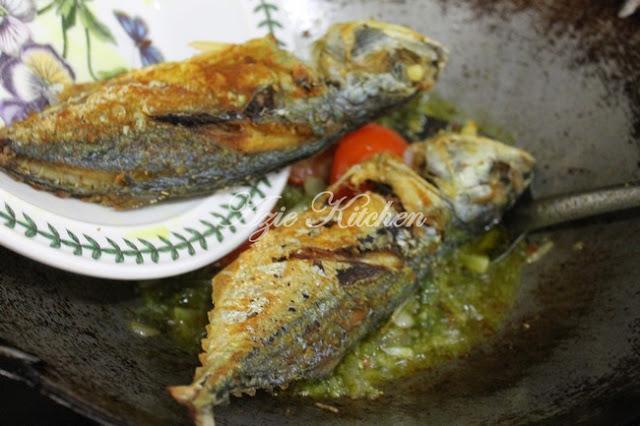 Ikan Goreng Berlado Hijau Mudah dan Sedap