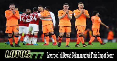 Liverpool di Bawah Tekanan untuk Finis Empat Besar