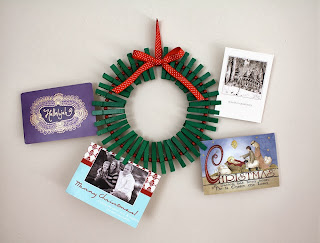 http://www.craftinessisnotoptional.com/2010/12/christmas-card-wreath-tutorial.html