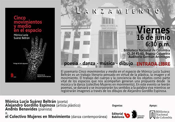 La escritora Mónica Lucía Suárez presenta su libro en la Biblioteca Nacional de Colombia