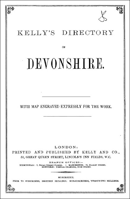 Kelly's Directory of Devonshire