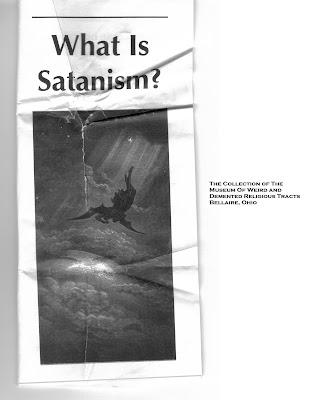 satanism tract