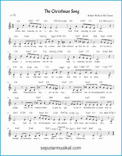 chord the christmas song lagu jazz standar