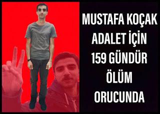 Mustafa Koçak Ölüm Orucu Direnişinin 159. Gününde