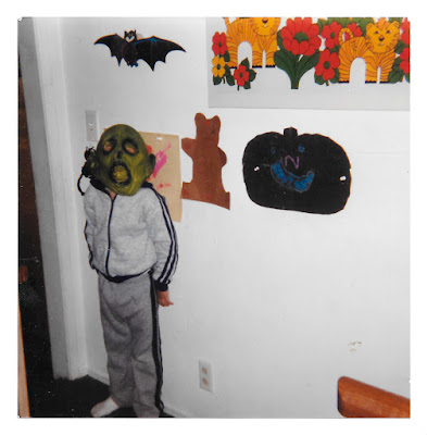 Me (as a green-faced monster) at 19 Ramona Avenue in Piedmont, California in the early 1980's.