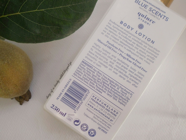 Blue Scents Body Lotion Quinee : Review