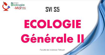 COURS d'Ecologie Générale II SVI Semestre S5 PDF à Télécharger SVT 5