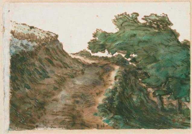 Жан Франсуа Милле - Дорога. 1867