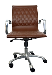 Contemporary Brown Leather Office Chair